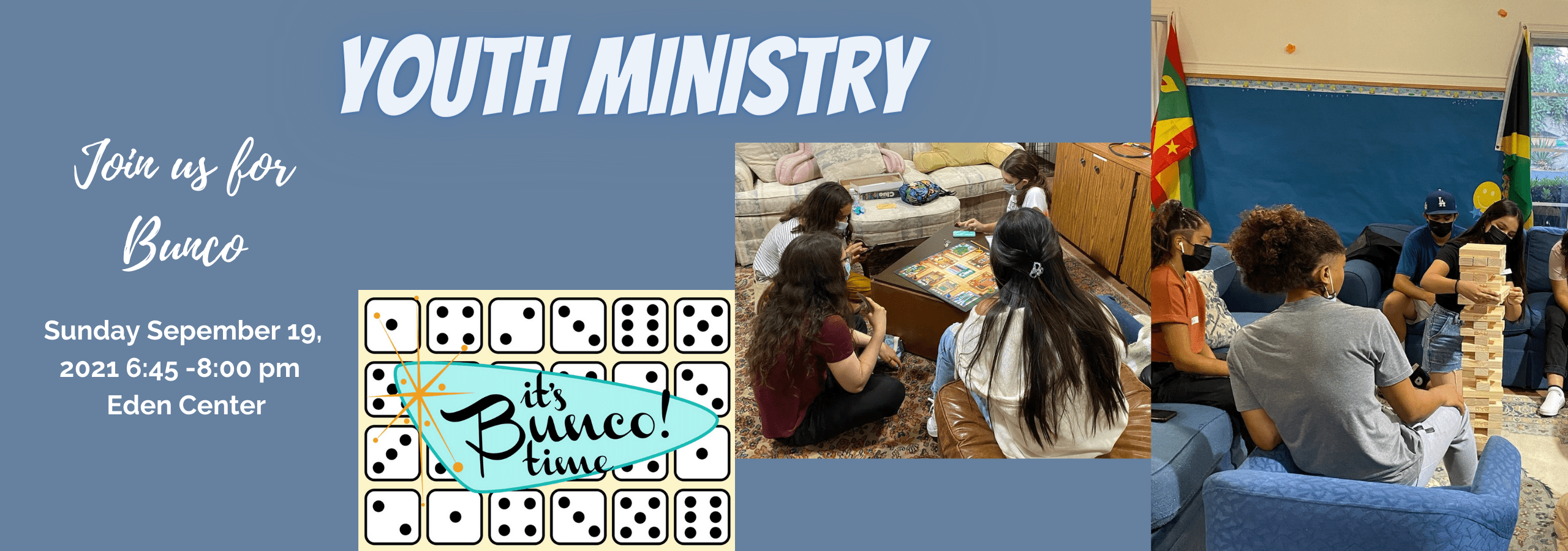 Youth Ministry BUnco Banner